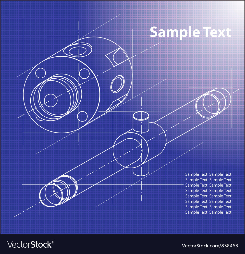 Technical blueprint royalty free vector image vectorstock technical blueprint vector image malvernweather Images