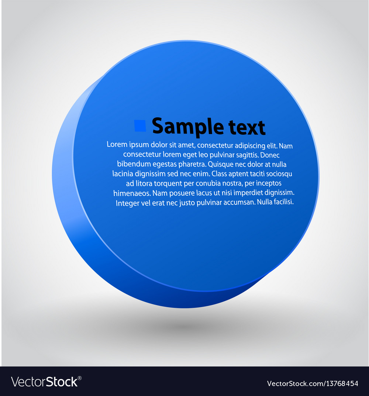 Blue three dimensions sircle vector image