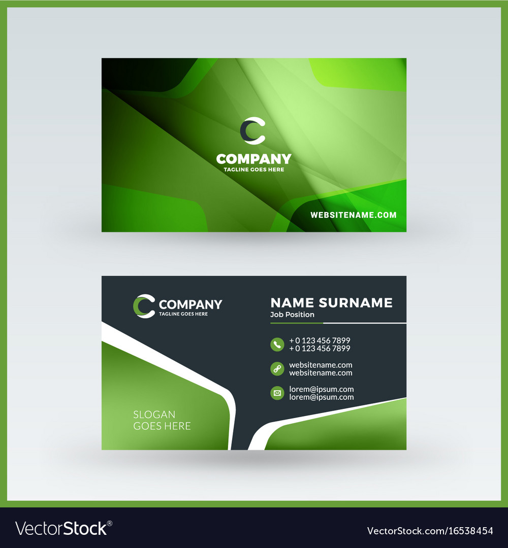 Double sided horizontal business card template vector image reheart Gallery