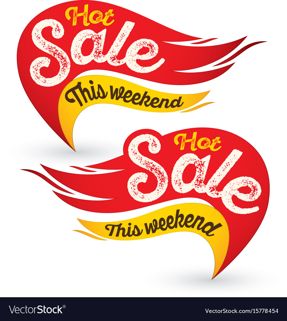 hot fire sale labels stickers templates vector image