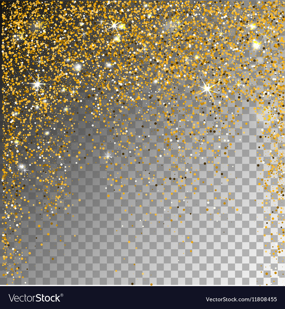 Falling snow on a transparent sparcle background vector image