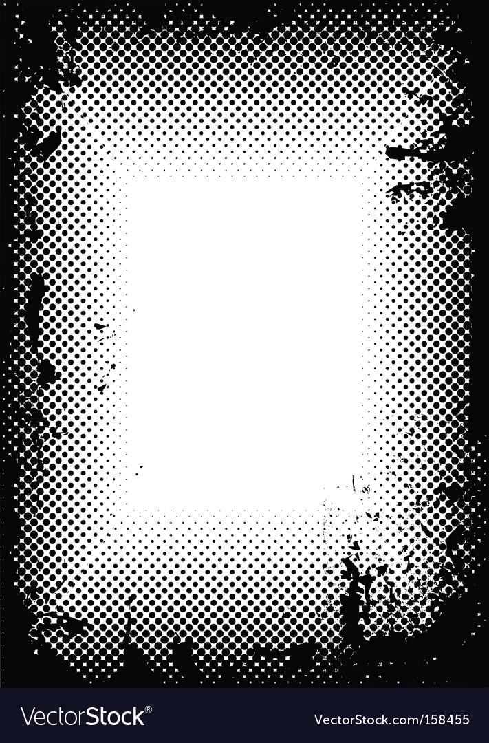 Grunge halftone border vector image