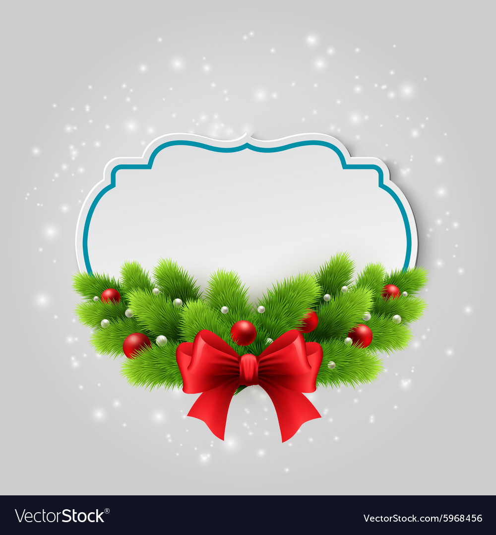 Christmas paper card Winter background vector image