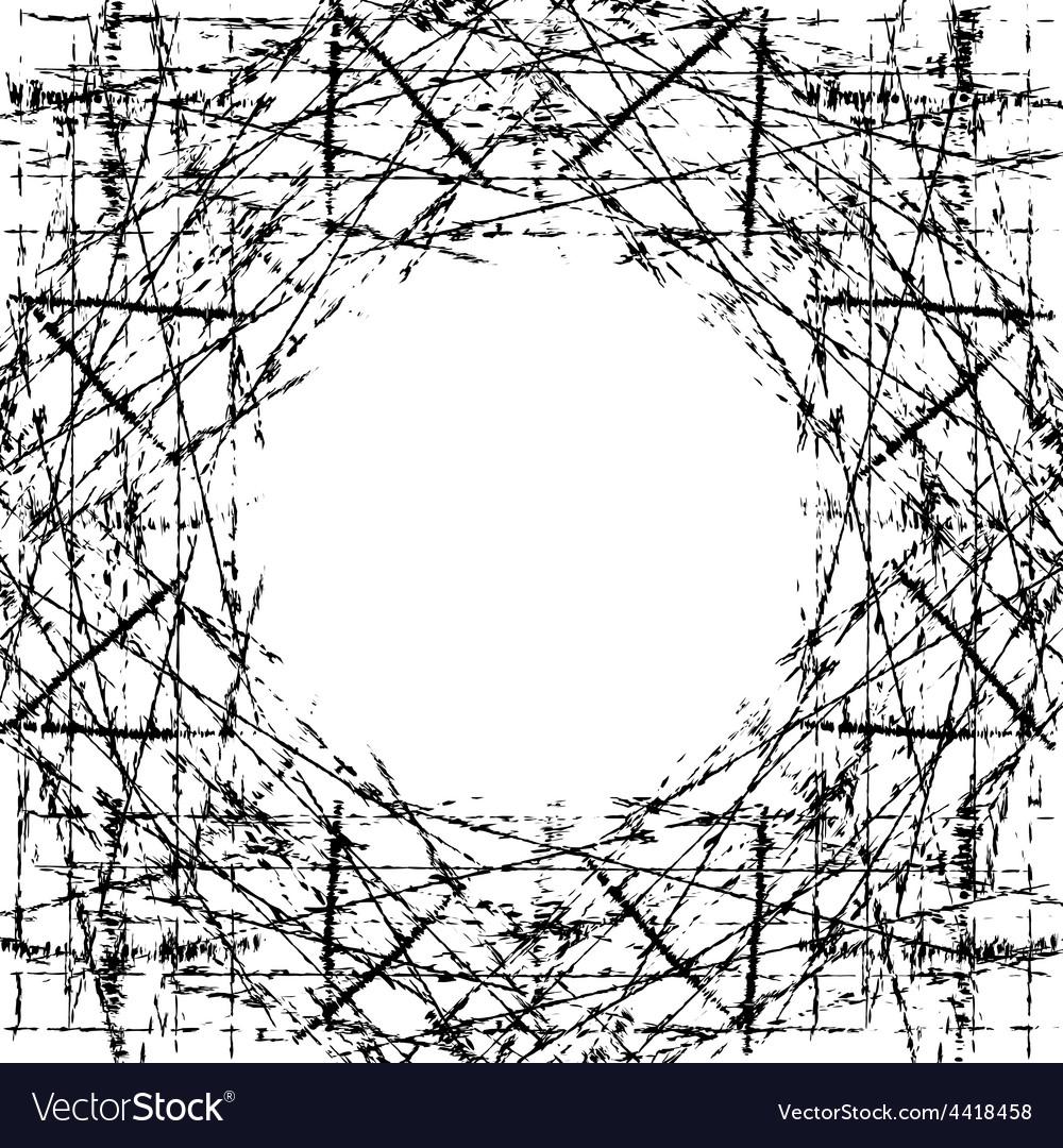 Background Scratched Frame vector image