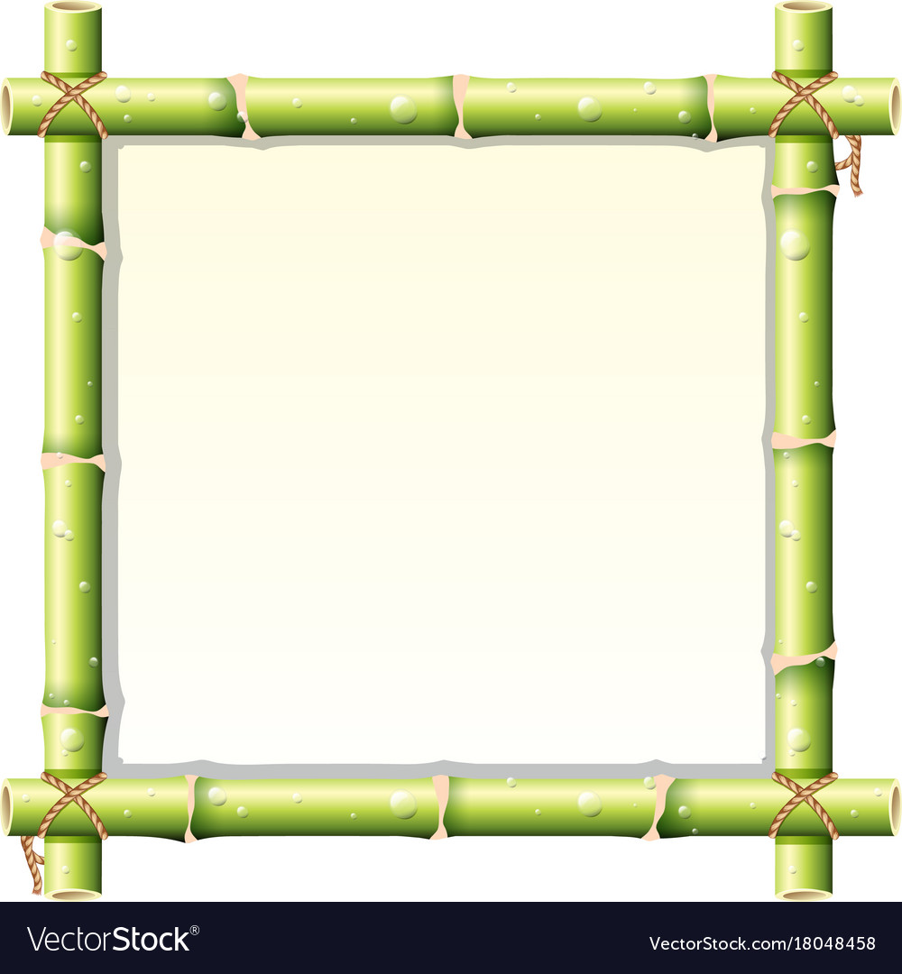 Border design with bamboo stem Royalty Free Vector Image