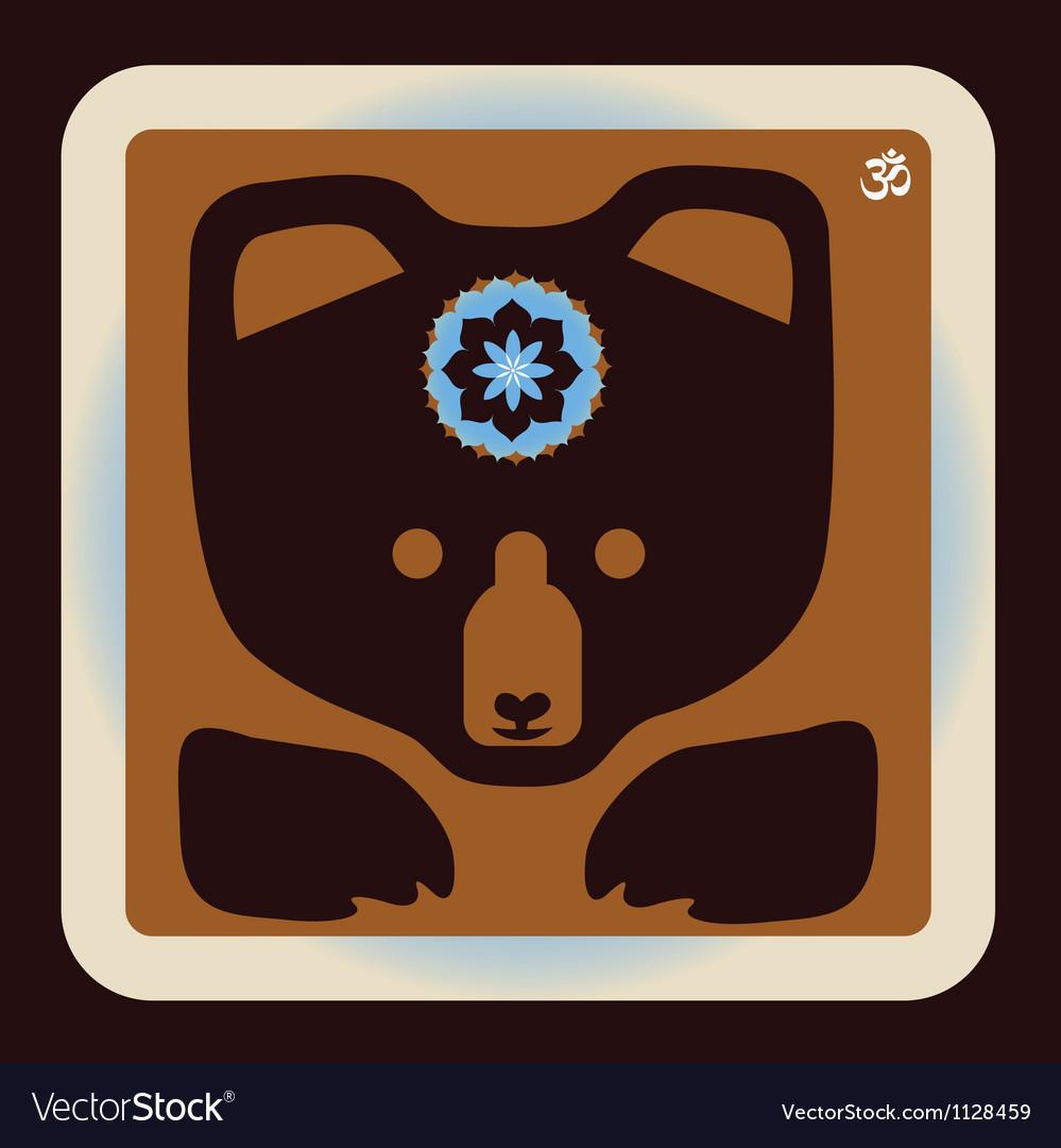 Bear icon vector image