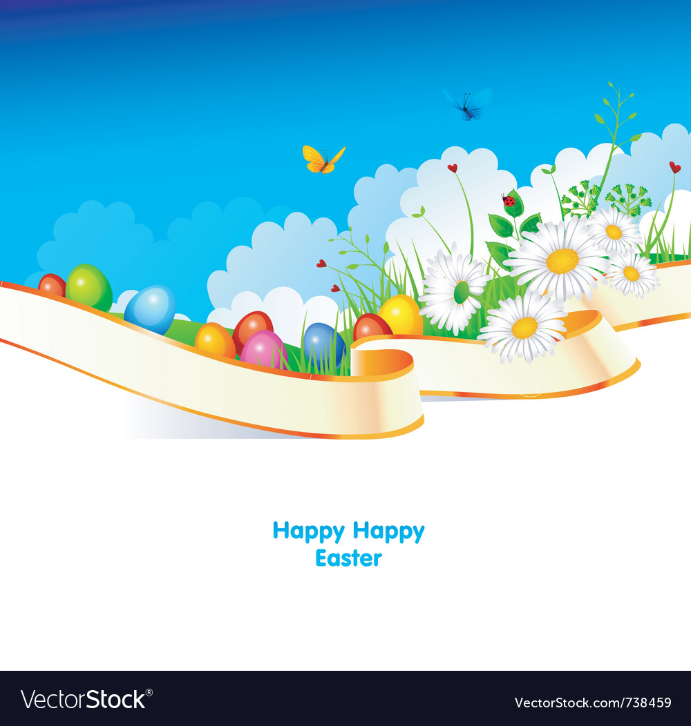 Easter pic vector image
