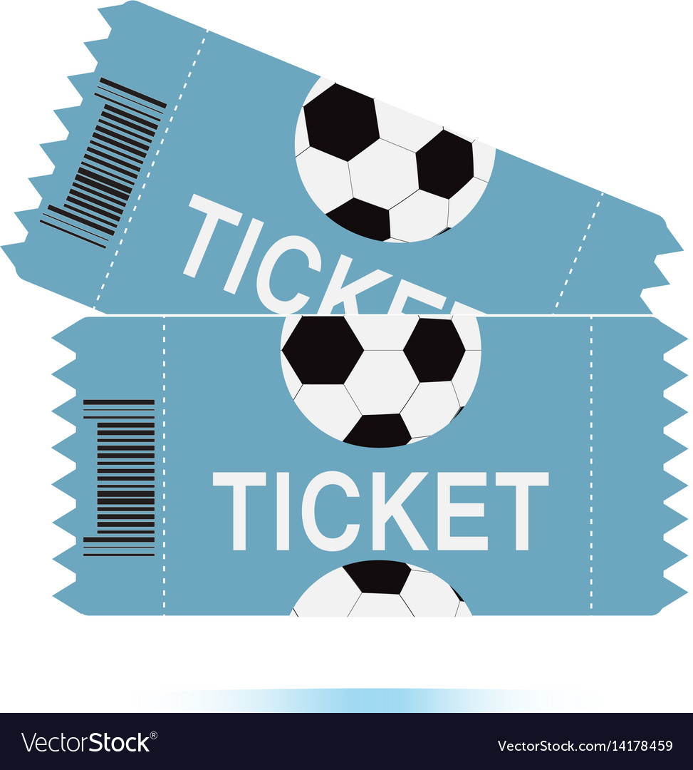 Two football tickets icon on white background two vector image