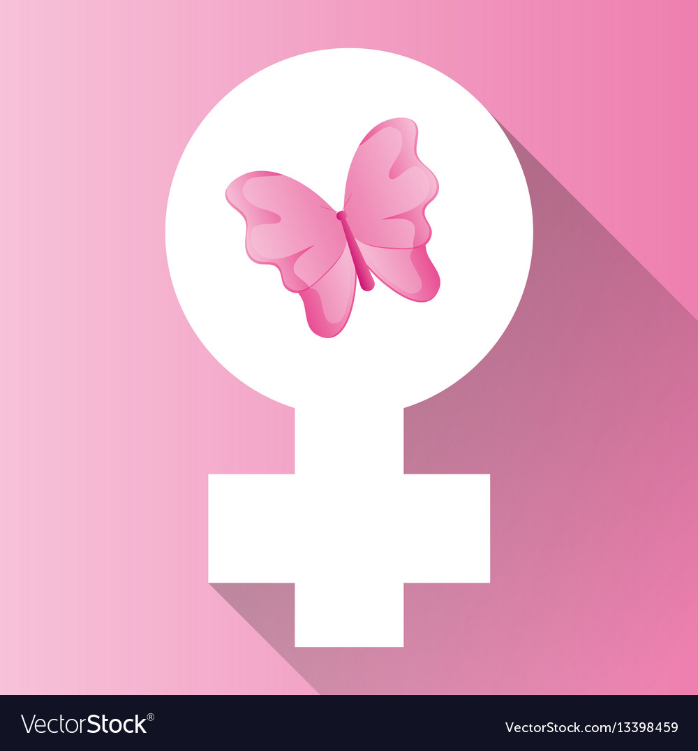 Womens day gender symbol butterfly royalty free vector image womens day gender symbol butterfly vector image biocorpaavc Image collections