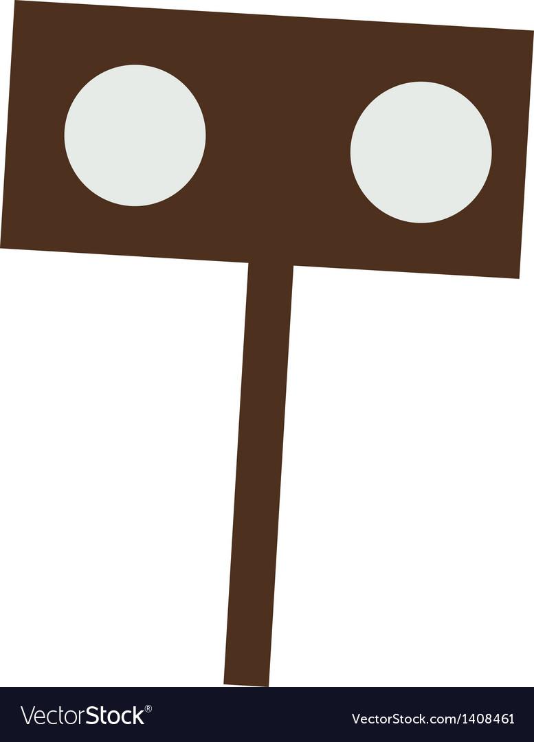 A sign spot vector image