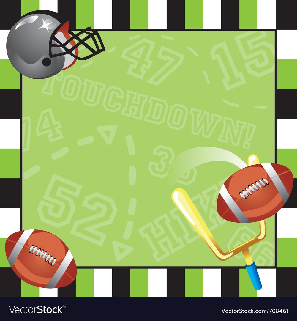 Football party invitation card vector image