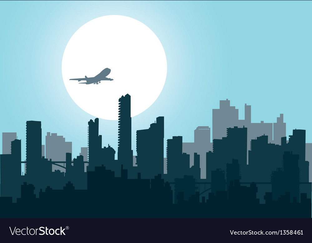 Nightly city4 vector image
