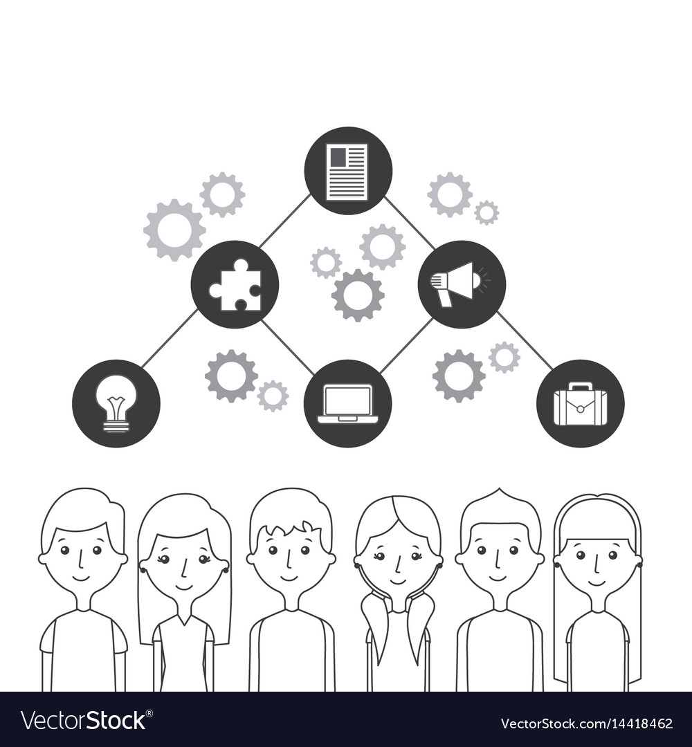 People and communication design vector image