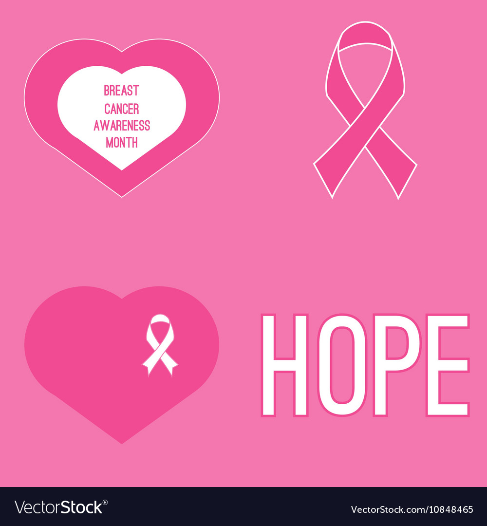 Set of cancer awareness month symbols royalty free vector set of cancer awareness month symbols vector image biocorpaavc Choice Image