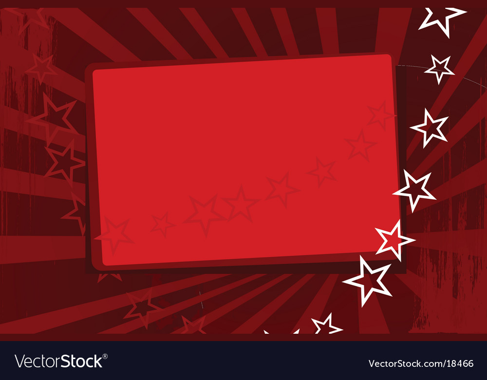 Red wallpaper with stars vector image
