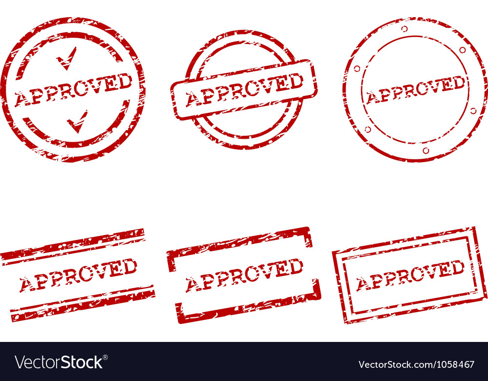 Approved stamps vector image