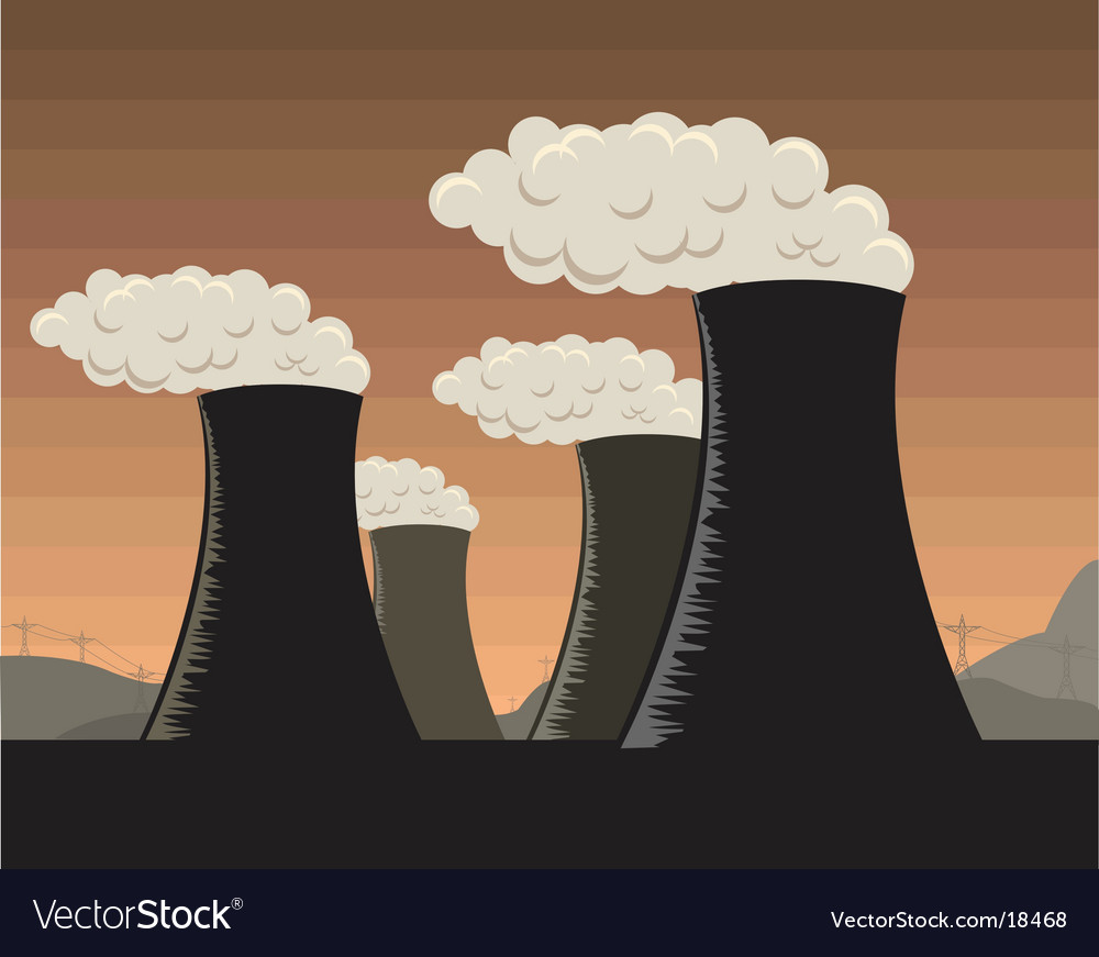 Industrial factories vector image