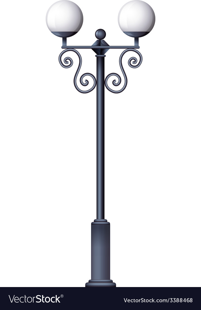 Perfect A Lamp Post Vector Image