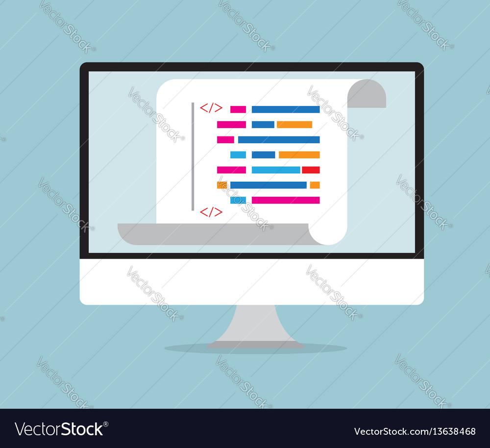 Computer coding programming concept vector image