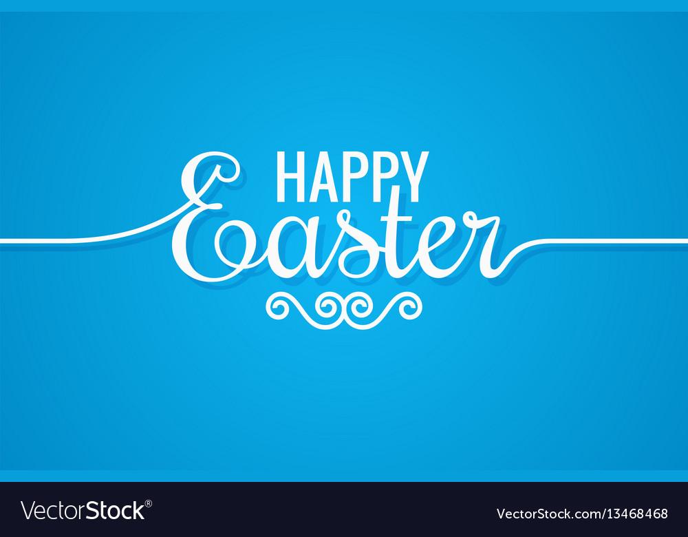 Easter line vintage lettering design background vector image