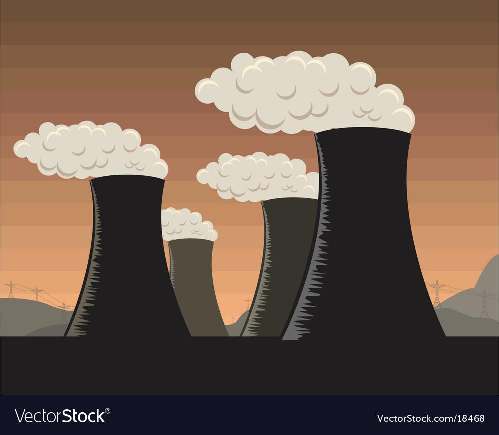 Industrial factories vector image