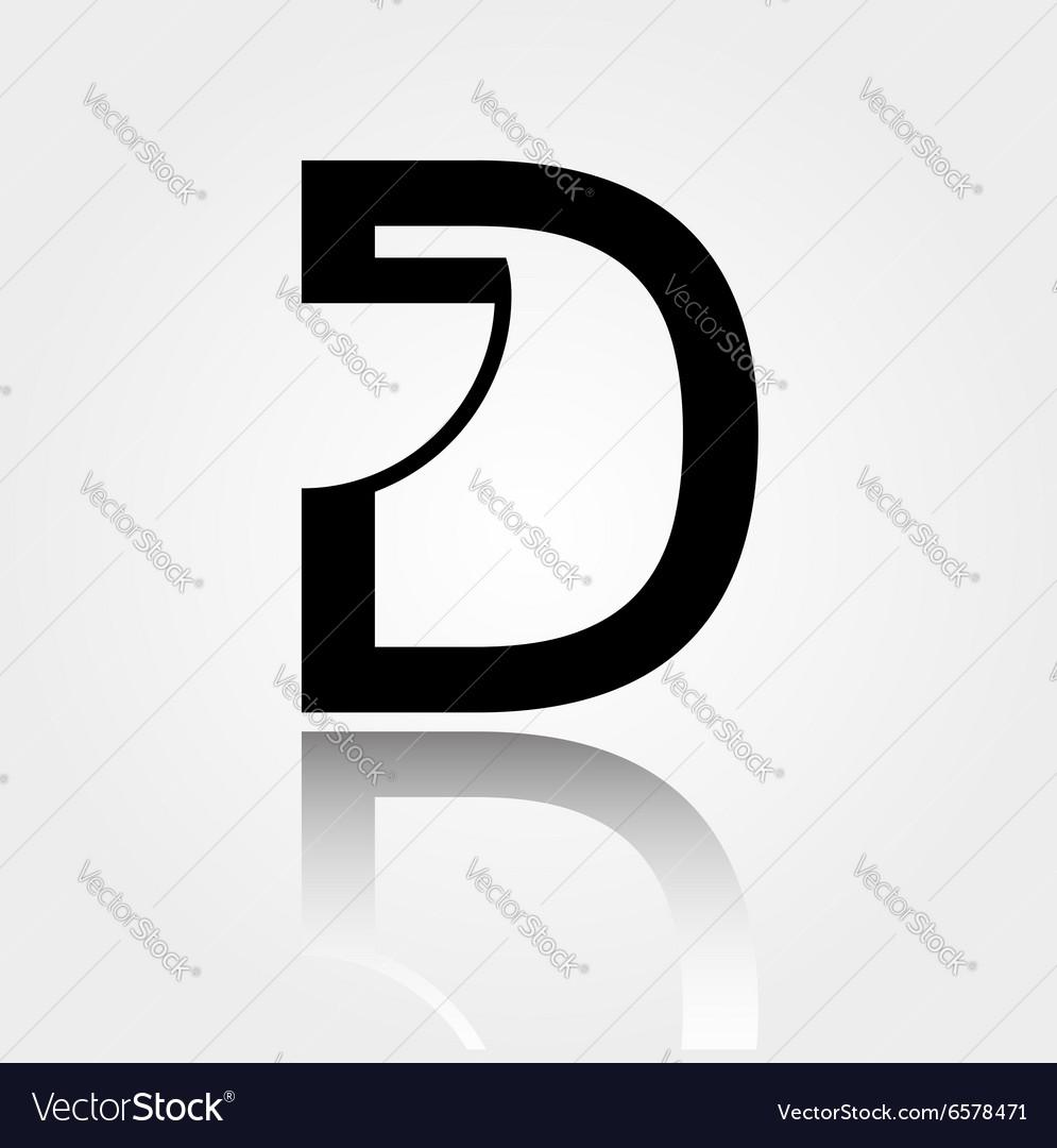 Interior design logo vector - D For Design Logo For Interior Design Or Architec Vector Image