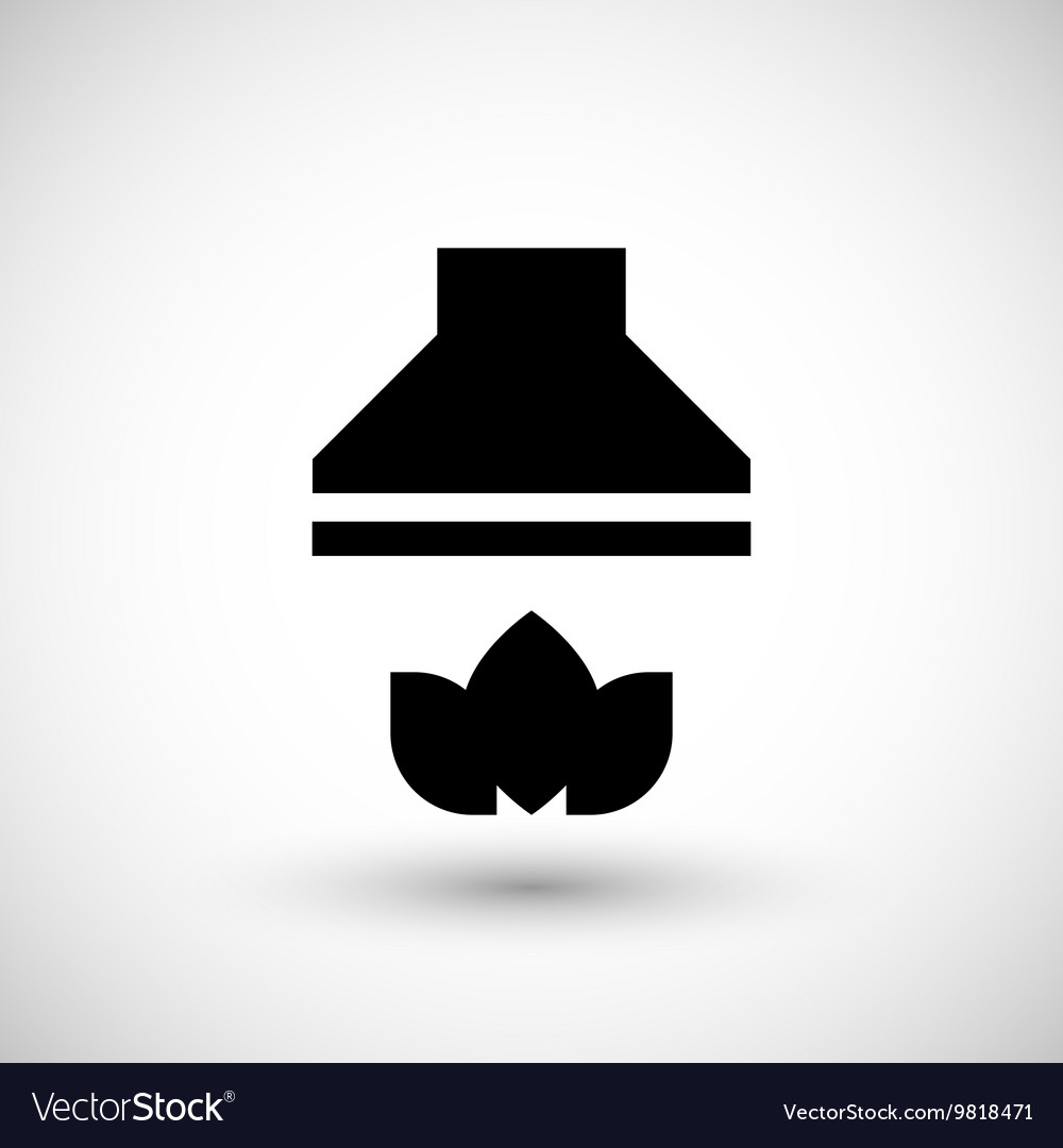 Kitchen hood icon vector image