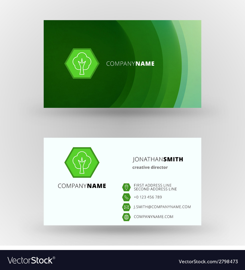 Creative business card design print template Vector Image