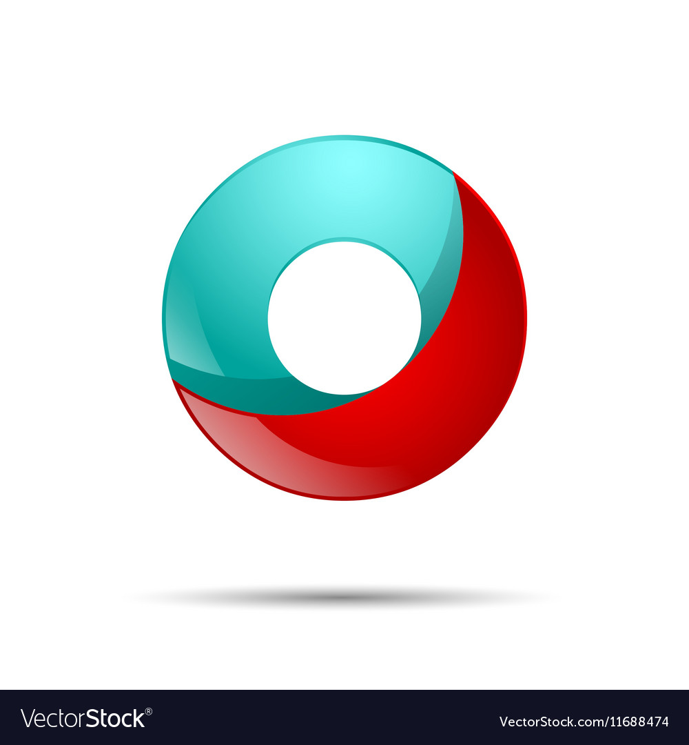 Number zero 0 colorful 3d volume icon design for vector image