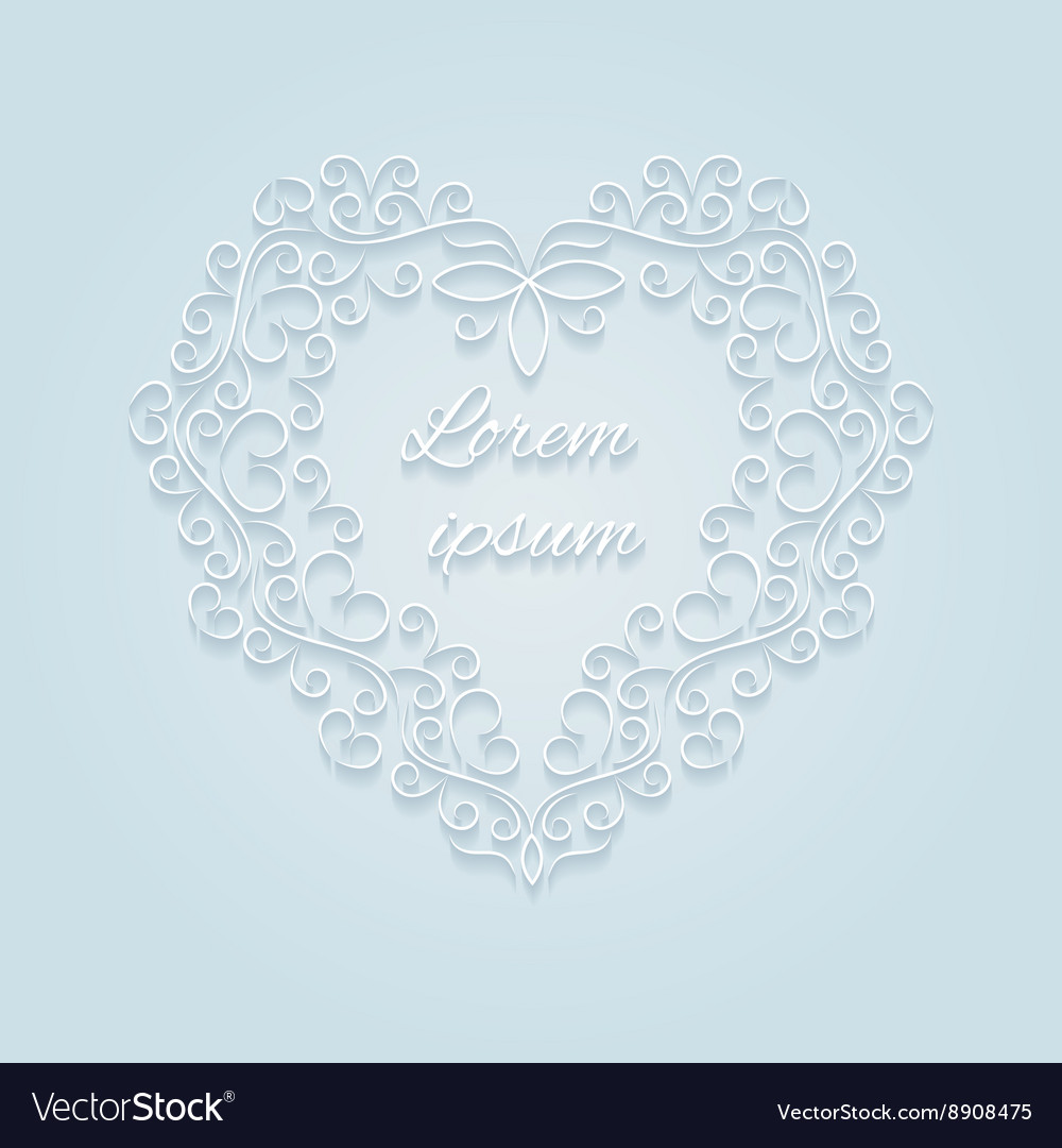 Heart decorative ornamental vector image