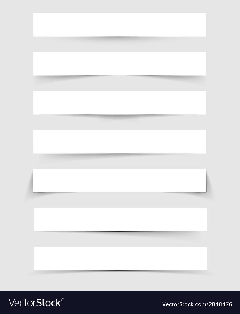 Shadows set vector image
