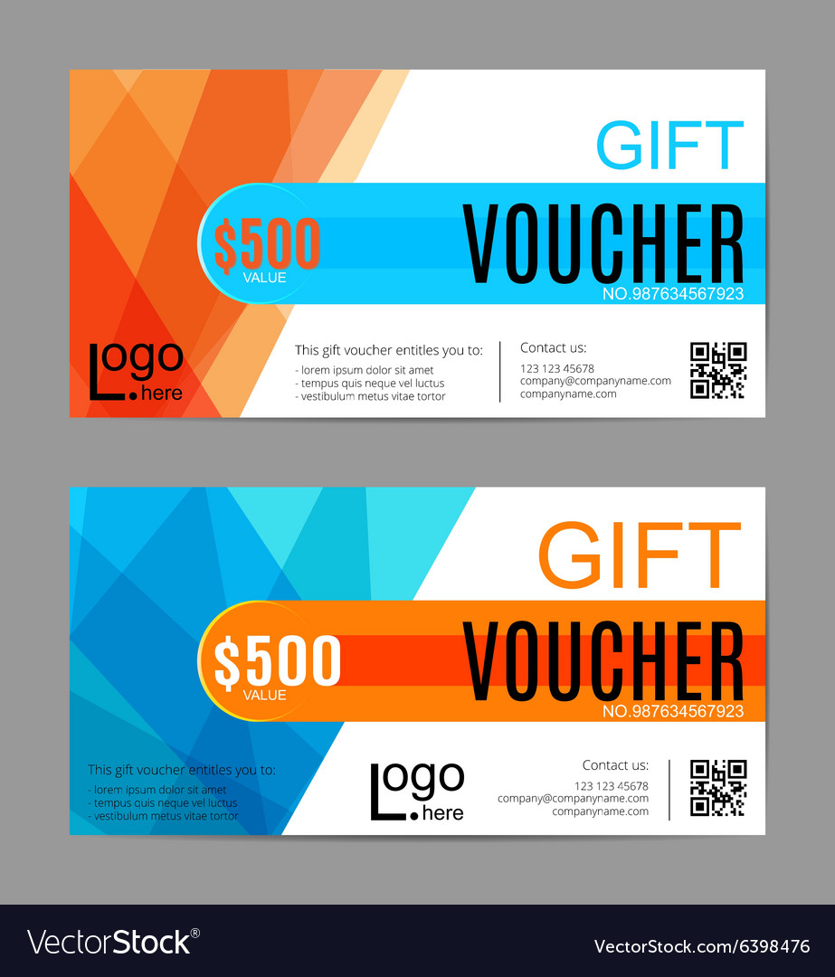 Voucher Gift certificate Coupon template Floral vector image
