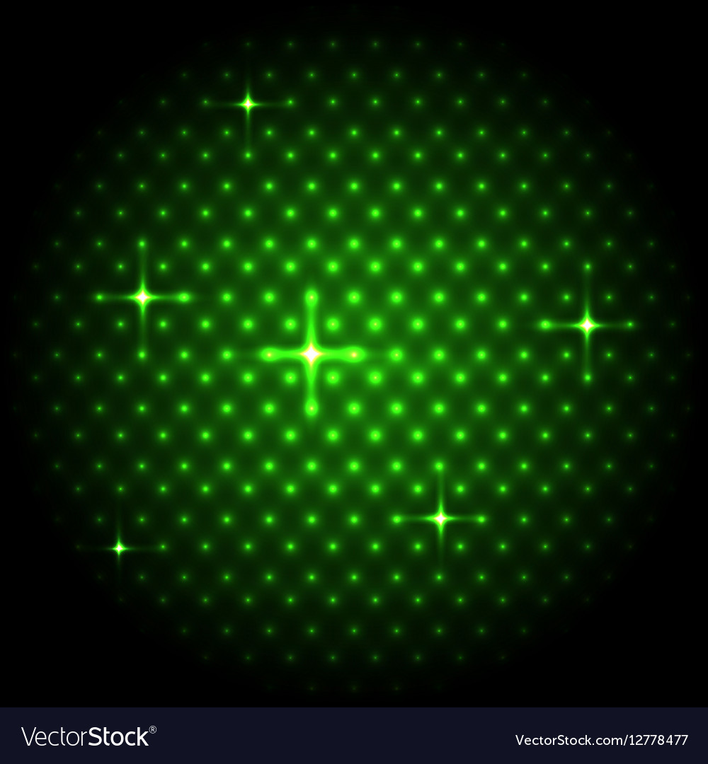 Abstract global with green dots background vector image