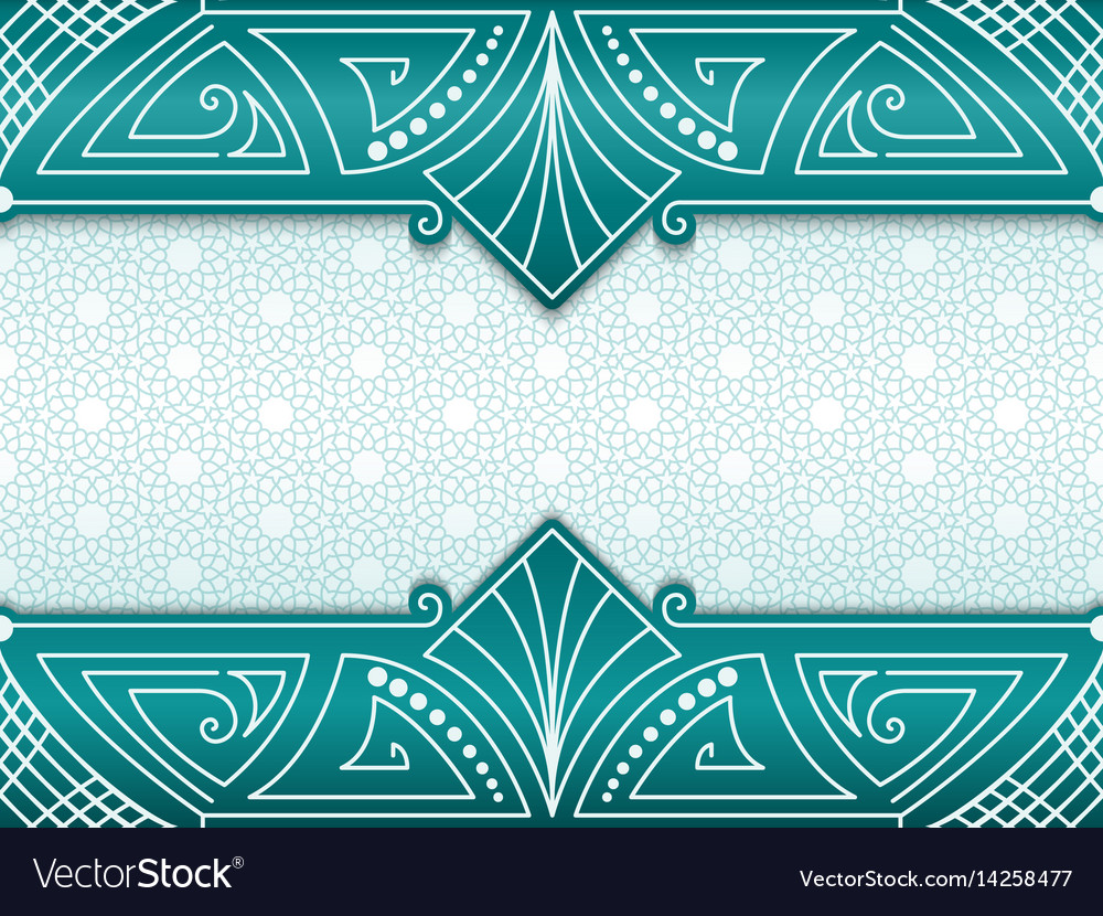Geometric abstract frame on vector image