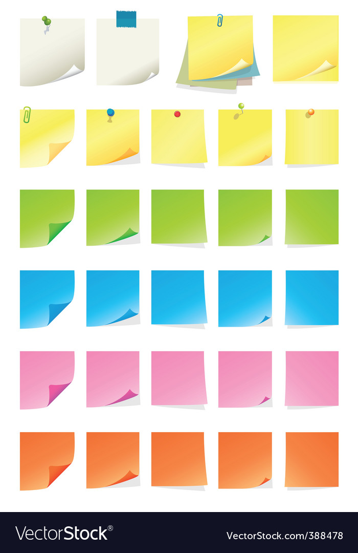 Post it note vector image