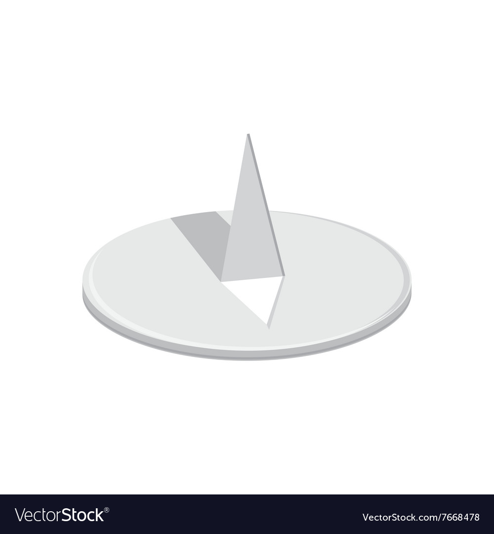 Round drawing pin vector image