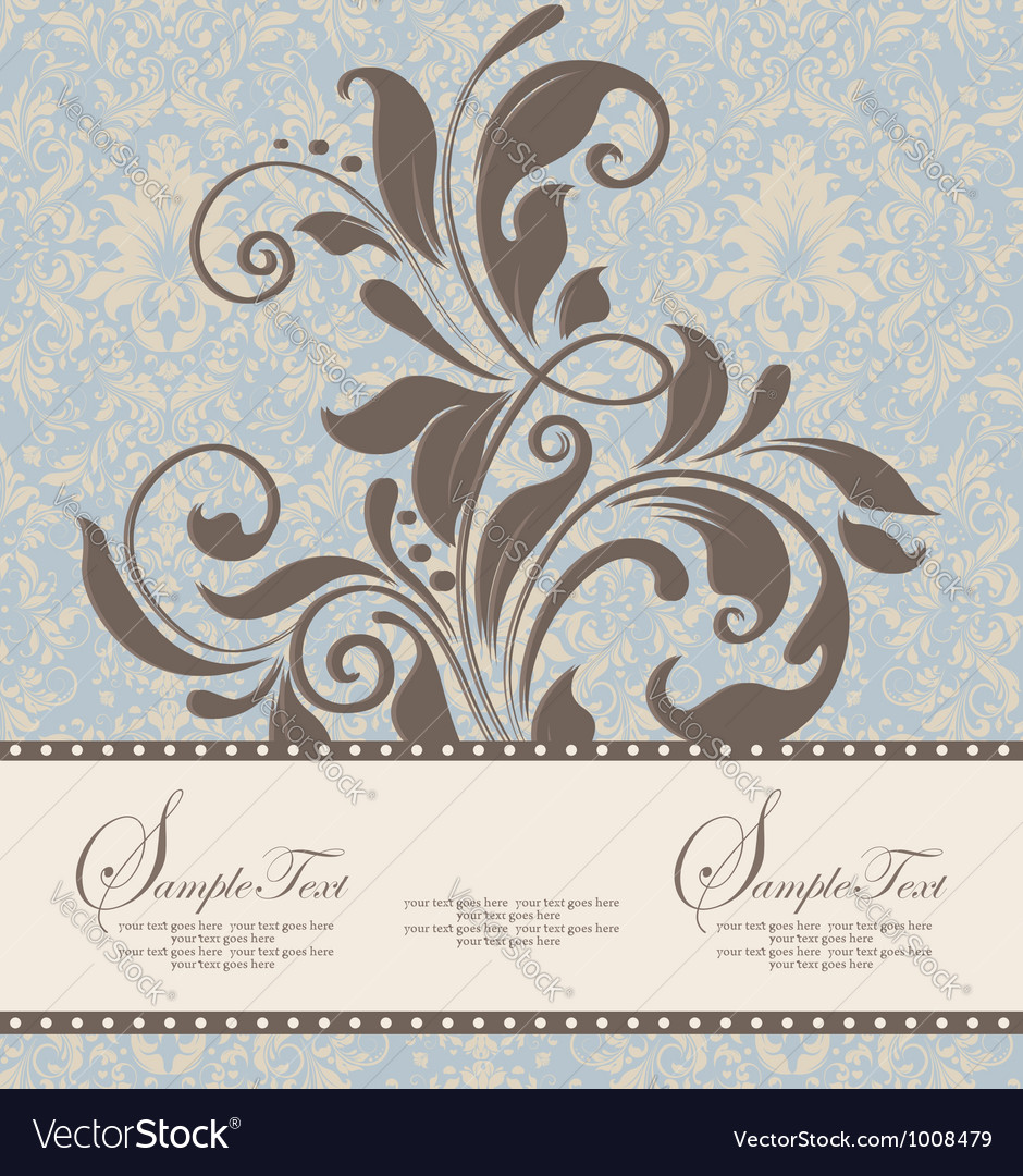 Beautiful vintage floral card Vector Image
