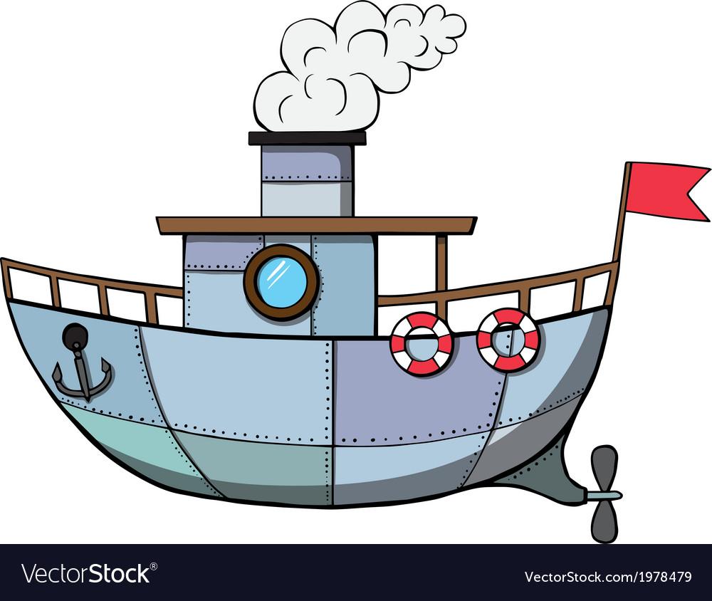 Cartoon ship vector image
