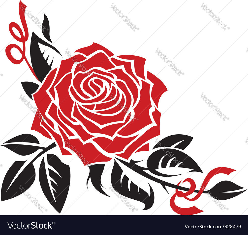 Rose royalty free vector image vectorstock rose vector image vector image voltagebd Choice Image