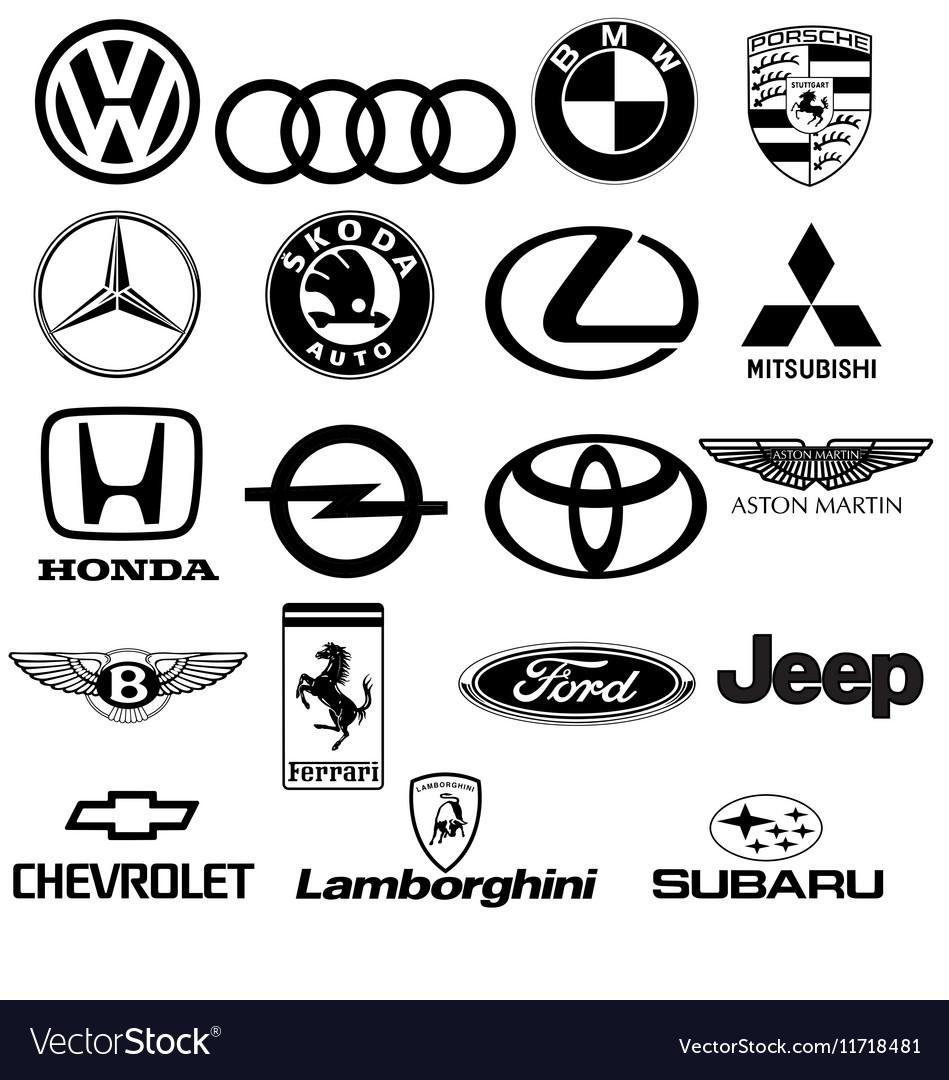 Black white car logos royalty free vector image black white car logos vector image buycottarizona Gallery