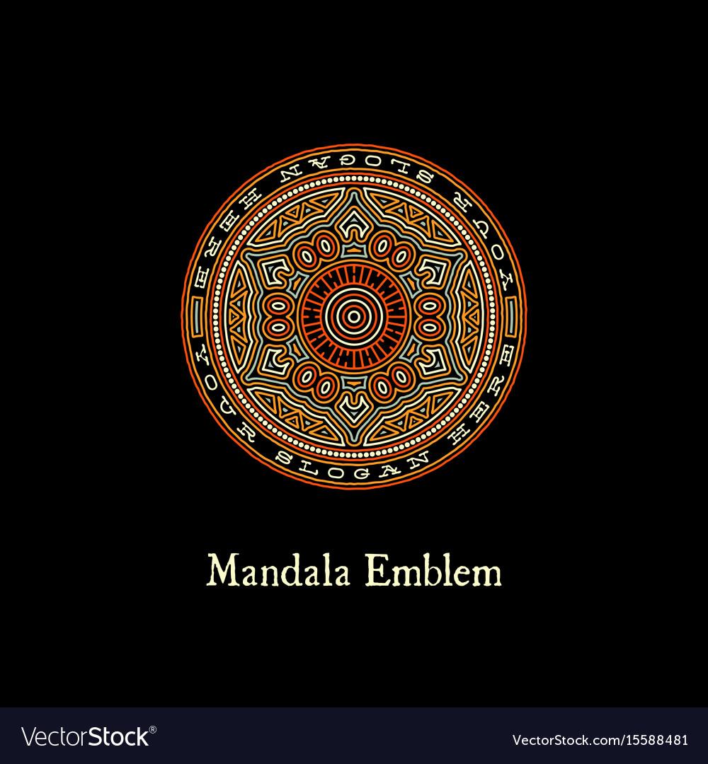 Mandala emblem vector image