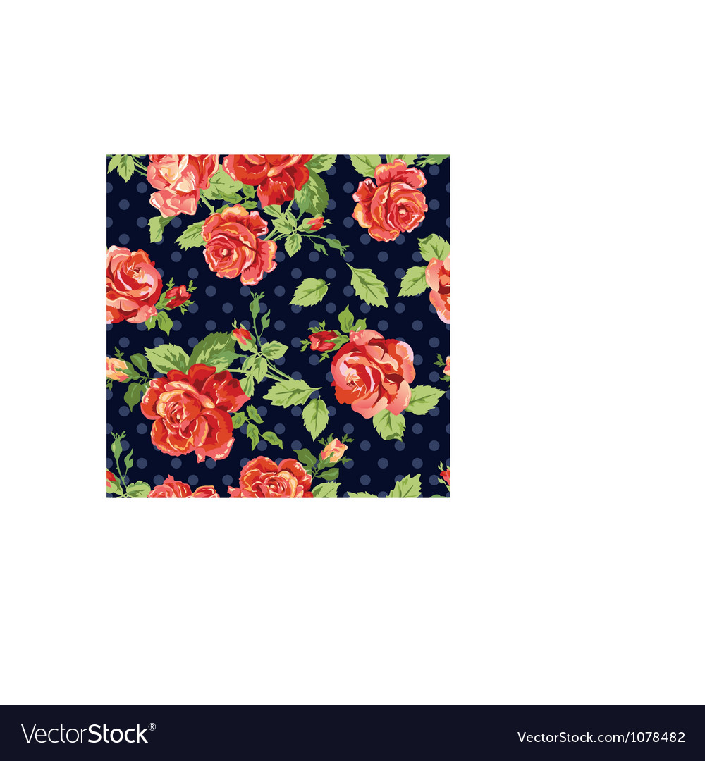 Classical roses navy background vector image