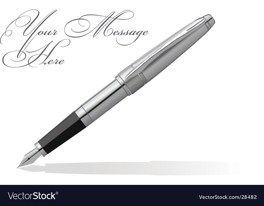 Fountain pen vector image