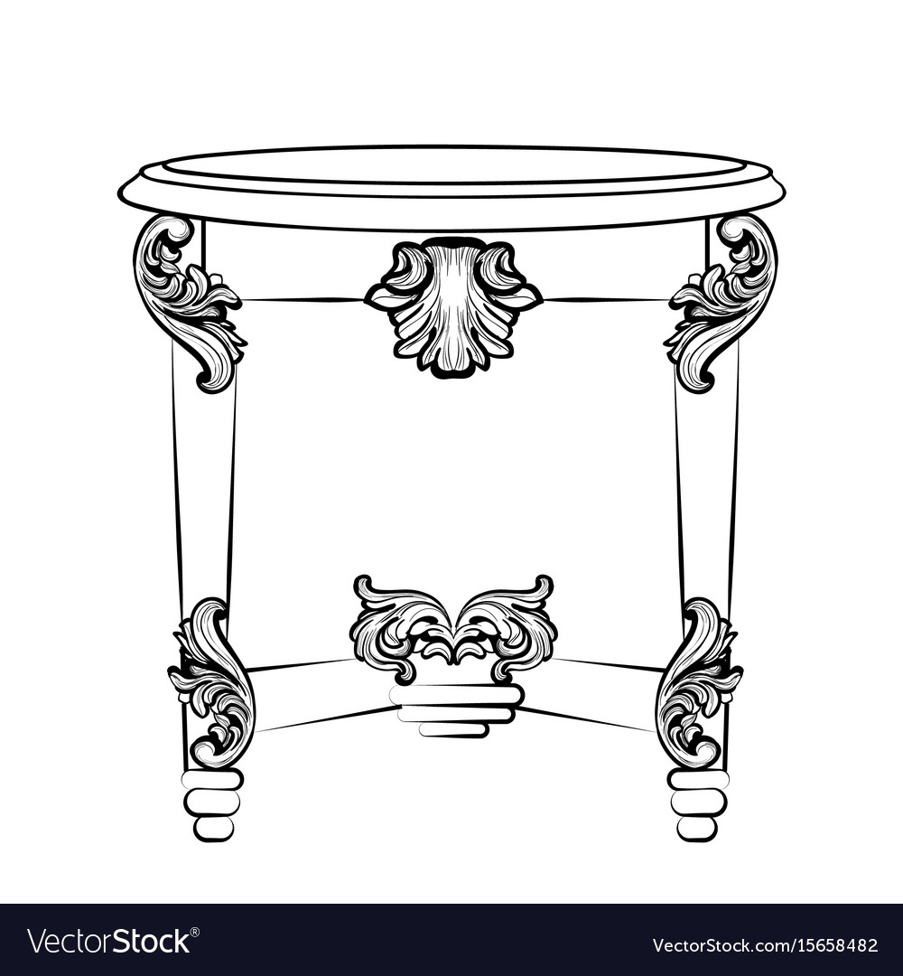 Imperial baroque console table french luxury vector image