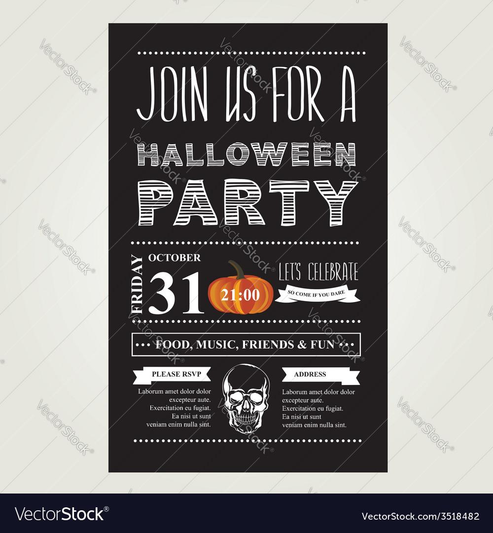 Invitation Halloween vector image