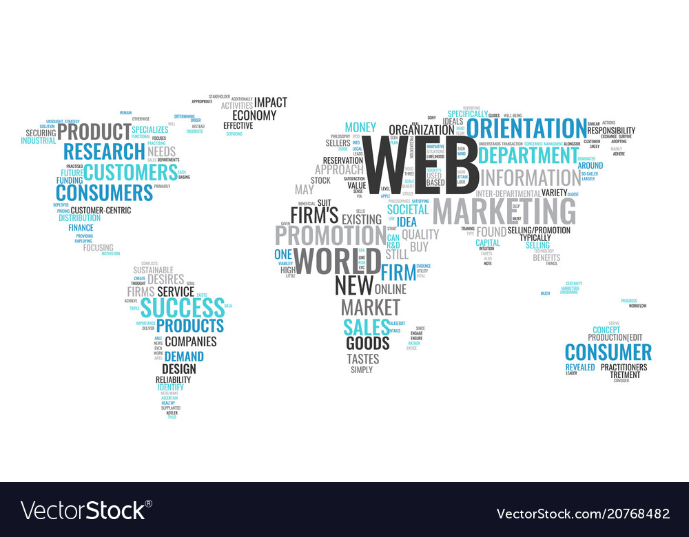 Word cloud business concept world map from text vector image gumiabroncs Choice Image