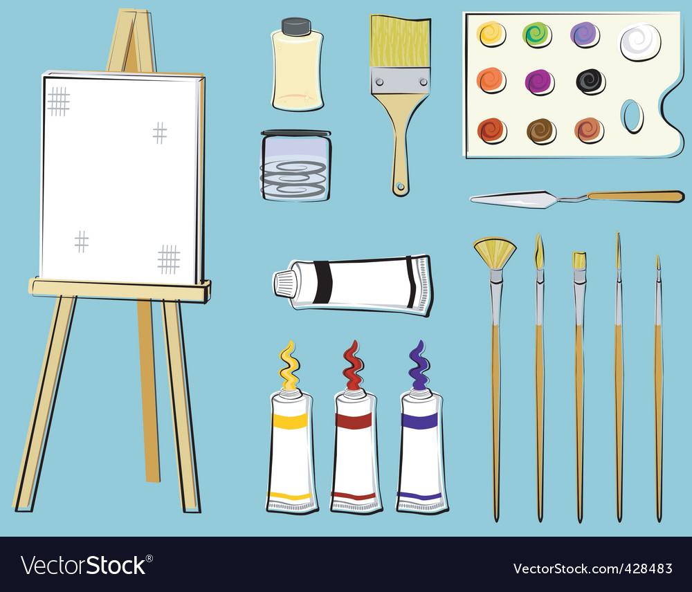 88 cartoon art supplies pin painting clipart art supply for Best paint supplies
