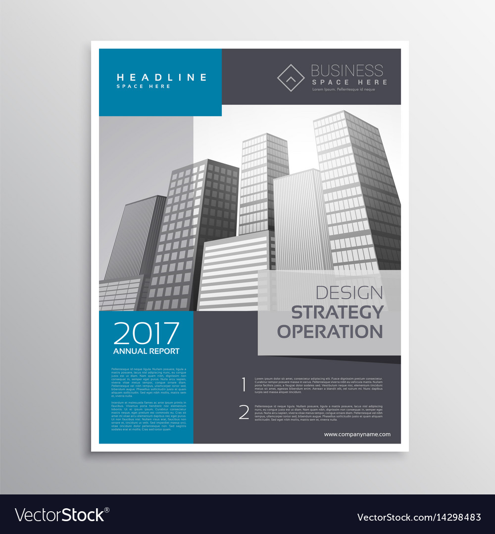 company leaflet brochure template design in a4 vector image