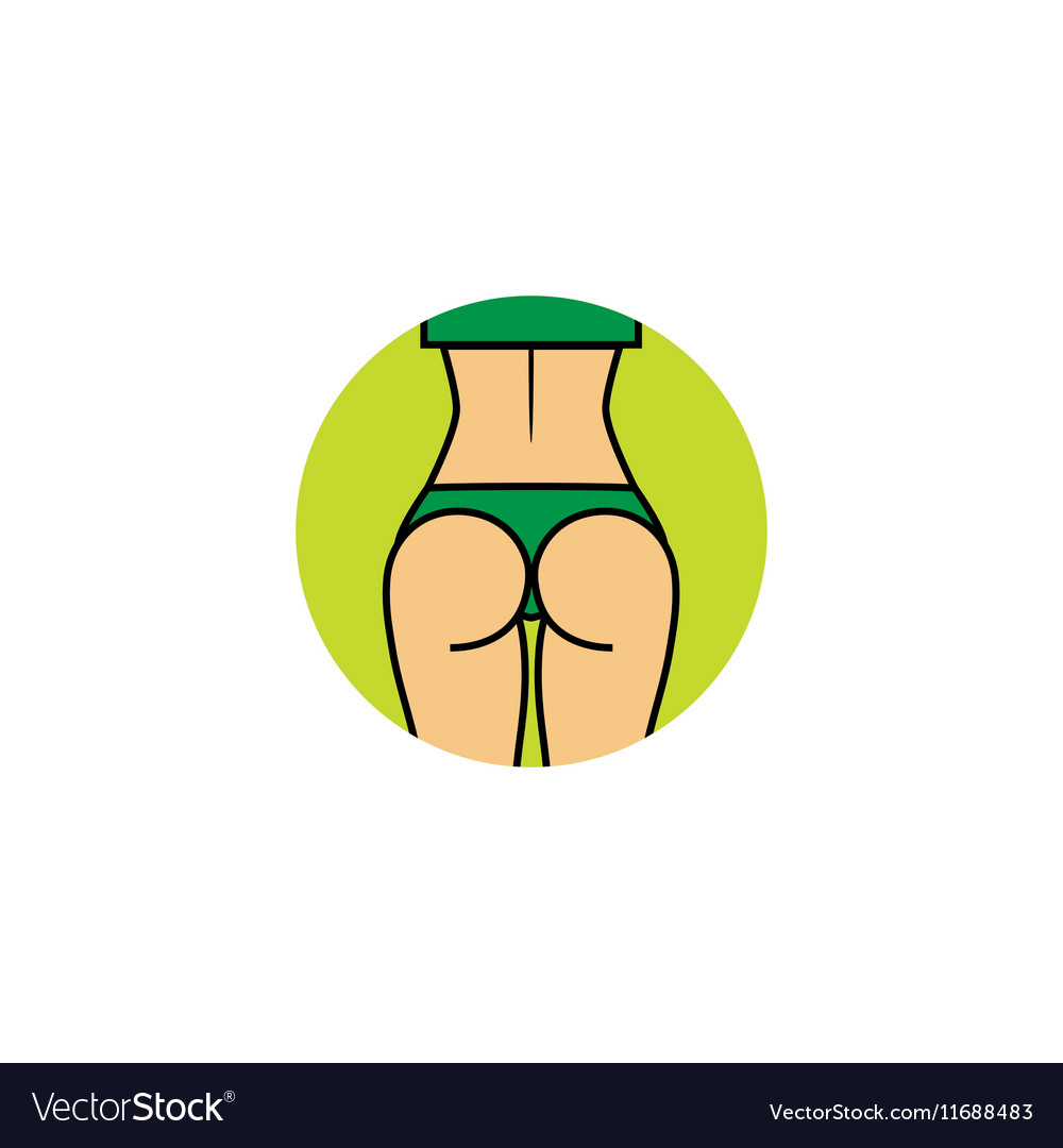 Fitness lady Toned beautiful glutes in vector image
