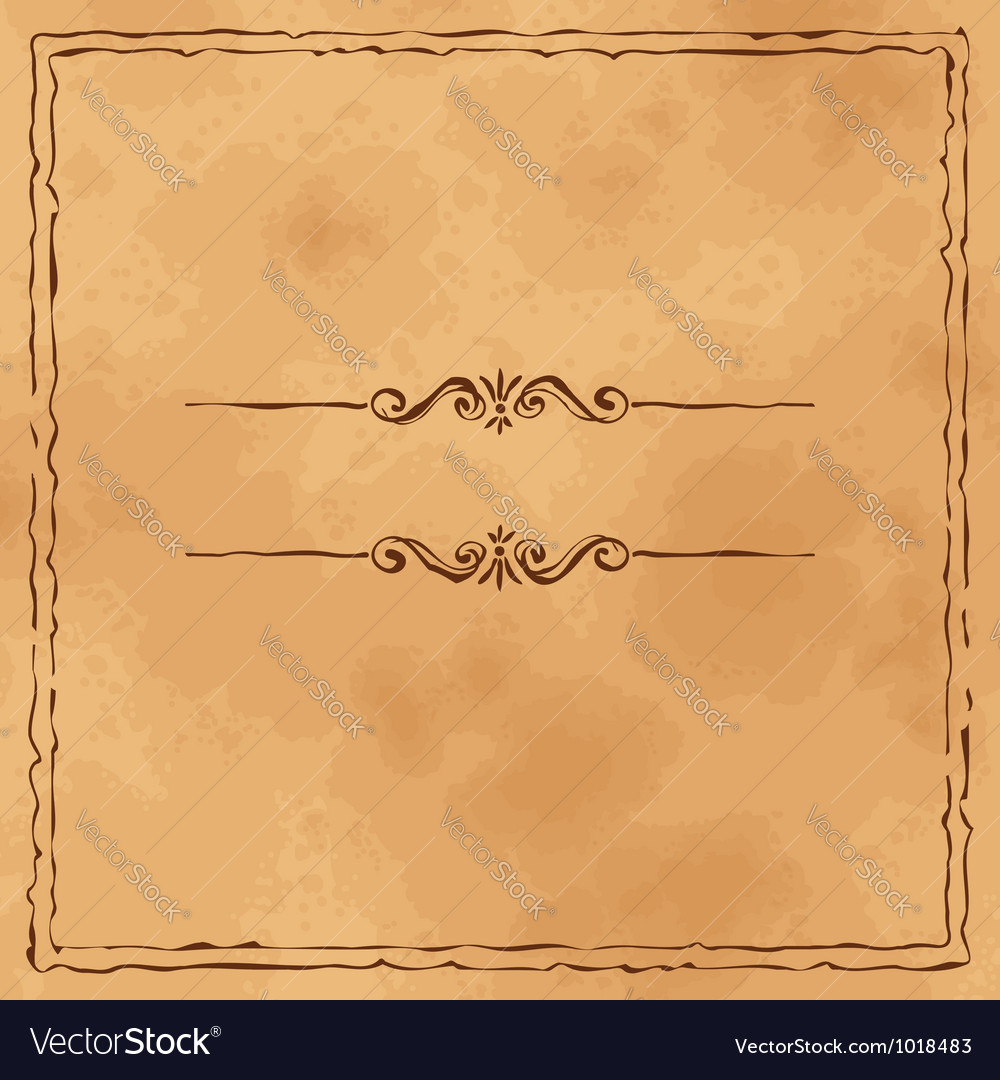 Grunge old paper background vector image